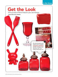 red kitchen decor loved by food network magazine my kirklands blog