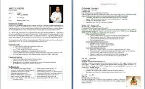 Example Of Chef Resume by Professional Chef Resume Example Image Result For Sample Resume