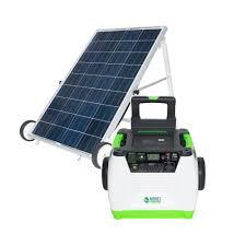 1800 watt solar powered portable generator with electric start