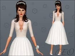 robes de mariã e vintage beo s retro robe de mariée sims 3 sims