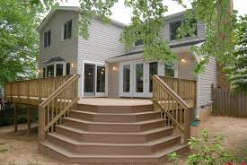 Patio Half Wall Amazing Patio With Half Hexagon Wooden Deck Stairs Feat Wooden