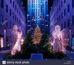 christmas tree lights angels rockefeller center raymond hood