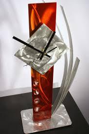 abstract clocks modern metal art mantel clock abstract sculpture decor