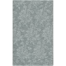 wool rug hand crafted solid blue grey damask coprasta wool rug 3 u00273 x 5 u00273