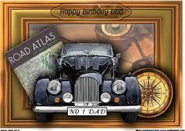 happy birthday dad vintage car 3d a4 card front cup84847 168