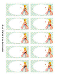 princess label printable free pretty things for you