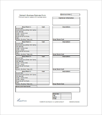 Free Construction Estimate Forms Templates by 10 Sle Estimate Templates Free Word Excel Pdf Documents