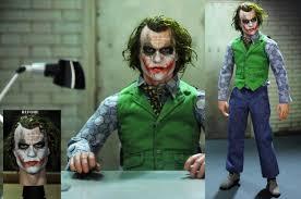 Heath Ledger Joker Halloween Costume Repaint 1 6 Figure Heath Ledger Joker Head Noeling Deviantart