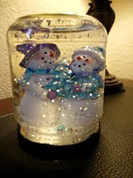 use any glass jar add some glycerin to the water so the glitter