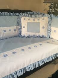 Sears Bonnet Bedroom Set White And Powder Blue Crown Collection Cot Bed Set Full Cot Bed