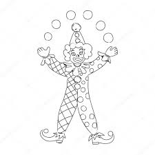 hand drawn clown u2014 stock vector elinorka 104464560