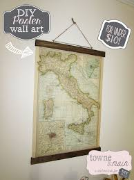 Map Wrapping Paper Diy Poster Art