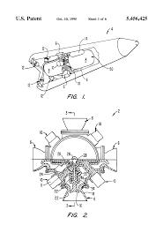 patent us5456425 multiple pintle nozzle propulsion control
