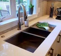 undermount sink with drainboard kitchen modern with custom