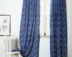 Bedroom Curtains Blue Curtains Window Curtains Indigo Bohemian Curtain Blue Bedroom