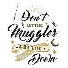 hogwarts alumni sticker harry potter muggles quote wall decals