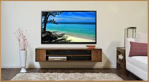 contemporary wall mounted tv stand home designing to wall