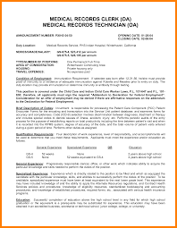 Resume For Medical Records 12 Medical Records Job Duties New Hope Stream Wood
