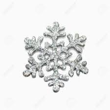 silver glitter snowflake on white background stock photo picture