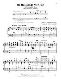 I Will Enter His Gates With Thanksgiving Chords Sheet Music Made Me Glad Choral
