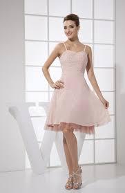 light pink knee length dress light pink casual a line spaghetti sleeveless chiffon knee length