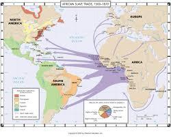 a of slavery in modern america the atlantic atlantic trade map thinglink