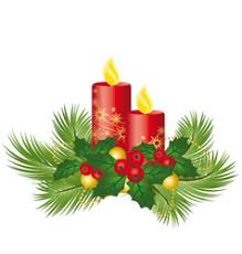 christmas candle light royalty free vector image