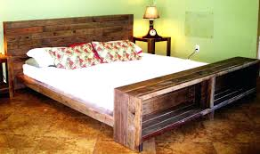 Simple Wooden Bed Frame Rustic Wooden Bed Frame U2013 Bare Look