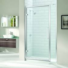 merlyn 8 series 700mm hinged shower door with 20mm extension