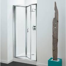 Shower Folding Doors Coram Optima 760mm Bi Fold Shower Door With Tray 760x760mm