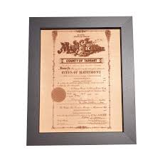 engraved anniversary gifts leather marriage certificate photo engraving leather anniversary