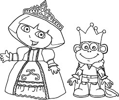 princess dora coloring page