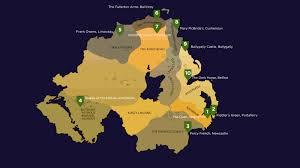Northern Ireland Map Game Of Thrones Doors Ireland Com