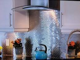 Metallic Tile Backsplash by Kitchen Popular Metal Tile Backsplash The Homy Design Kitchen