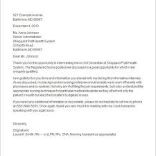 nursing thank you letter image collections letter format examples