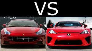 youtube lexus lfa vs nissan gtr lexus lfa vs ferrari ff acceleration youtube