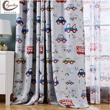 boys bedroom curtains byetee modern cartoon child bedroom curtains customize car finished