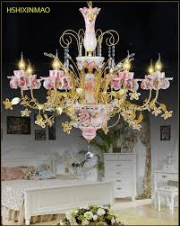 tip top gold plated ceramic crystal crystal chandelier