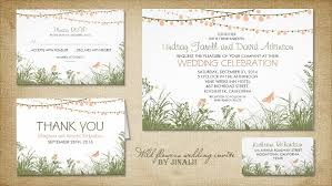 summer wedding invitations read more wildflowers and string of lights wedding invitation