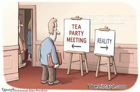 Tea Party Meme - tea party meme tea baggers and reality do not mix the libtard
