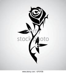 Tribal Tattoos With Roses - stock photos stock images alamy