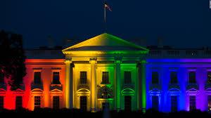 white house lights with rainbow colors cnnpolitics