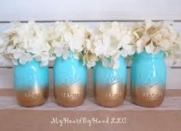 Ball Jar Centerpieces by Baby Shower Mason Jar Centerpieces Ombre Mason Jars Baby