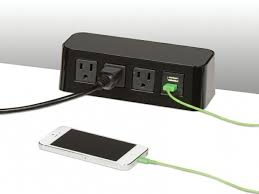 table power strip charging station executive desk company