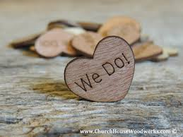 we do rustic wood heart confetti for rustic weddings barn