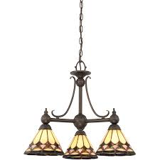 Ceiling Fans With Tiffany Style Lights Shop Ashley Harbour 3 Light Espresso Tiffany Style Chandelier At