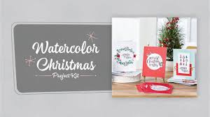 watercolor christmas project kit by stampin u0027 up youtube