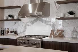 Cambria White Cliff Quartz Contemporary Kitchen CR Home Design - Quartz backsplash