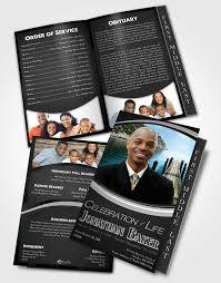 funeral program design 2 page graduated step fold funeral program template brochure