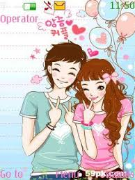 nokia 206 cute themes free nokia asha 206 cute couple app download in cartoons tag